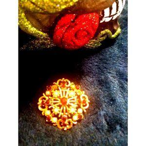 VTG./Estate Gold~Amethyst~Pearl Brooch